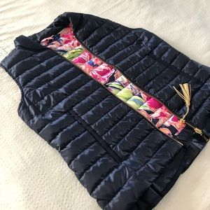 Lilly Pulitzer puffy vest.